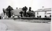 Balsham - Corner of High Street and West Wratting Road. The Old Post Office on the left and 'The Plough' on the right
