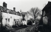 Hildersham - View of a block of terraced cottages