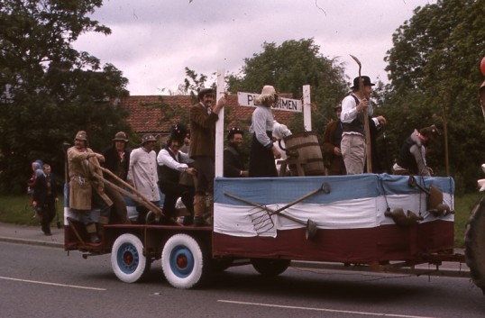 Balsham - Ploughmen at the Carnival for the Queens Silver jubilee