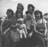 Great Abington - Land Settlement Association. The Gregory family on their holding at 48 North Road.