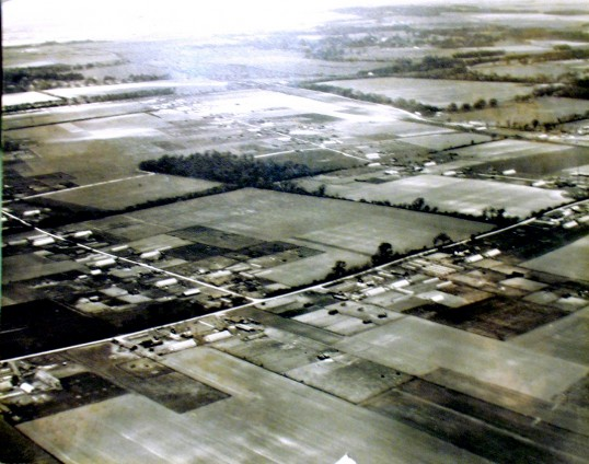 Great Abington - Land Settlement Association. Aerial photograph of the estate taken about 1960.