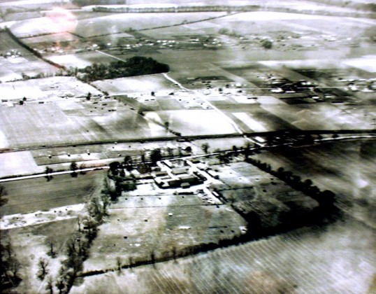 Great Abington - Land Settlement Association. Aerial photograph of the estate taken about 1960.