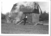 Great Abington - Land Settlement Association. Fire at No 44 North Road when the roof was badly damaged but no-one injured.