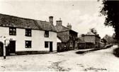 Little Abington - High Street at junction with Church Lane. Cottages left now Jeremiah's Cottage (2008), next building Princess of Wales public house.