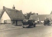 Great Abington - Linton Road at corner of High Street. Building on left was the tollhouse, now Tollgate Cottage (2008).