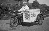 Linton - Mr Andrewes delivering ice cream for Mr Becket who made ice cream at his premises in the Hadstock Road until 1939.