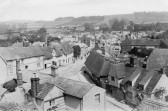 Linton - Aerial view of the Green Hill and High Street taken from the chimney of Henry Prior's Brewery in The Grip.