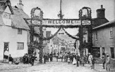 Linton - Linton Flower Show.  Triumphal Arch to welcome visitors arriving from the station. Shows started in 1878.