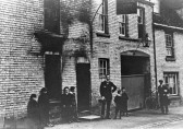 Linton - The Crown Inn after the fire, then owned by Phillips of Royston.  Became a public house/inn after 1845 and was never a Coaching Inn.