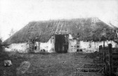 Linton - Rectory Tithe Barn in the grounds of the Guildhall where corn collected for the The Great Tithe was stored.  Demolished around 1912.