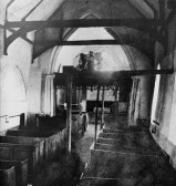 West Wickham - interior, St Mary's church before the restoration of 1900. Changes made during restoration