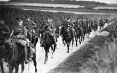 West Wickham - cavalry soldiers on the Streetly End to West Wickham road, Army Manoeuvres, 1912