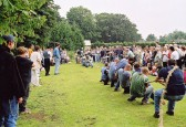 Balsham - Tug-of-war competition on recreation ground on Balsham Feast Day.