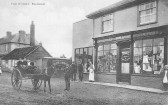 Balsham - Gedny's Stores. In the background on the left is The Bell public house.