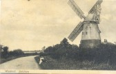 Balsham - the windmill on the Linton Road.  The mill gradually fell into disrepair and was demolished in the 1960s.  This image is from a postcard.