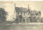 Balsham - The Rectory.  This postcard was sent with Christmas wishes from the Rector, Canon Burrell.