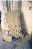 Balsham - Saxon grave slab: these stone fragments were discovered in 1931 and are now in the church