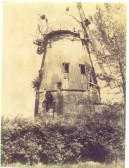 Balsham - old windmill on Linton Road; in a state of disrepair