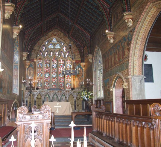 Hildersham, Holy Trinity Victorian Painted Chancel