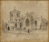 Hildersham Church Engraving