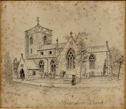 Hildersham-Church-Engraving