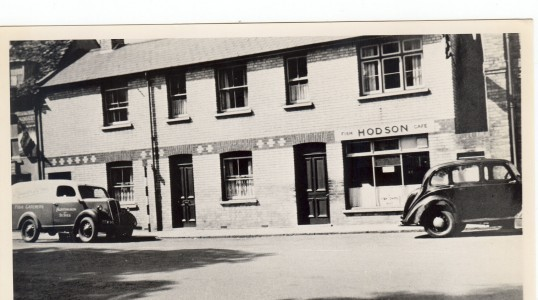 Hodson Fish and Chip Shop in the early 1950s, Huntingdon High Street.