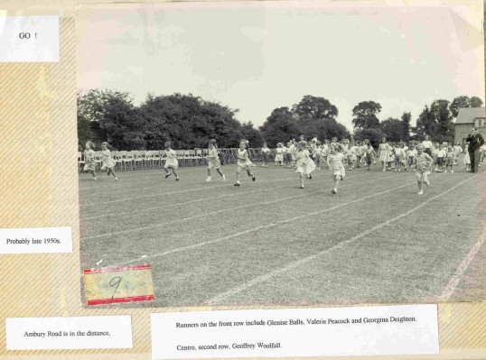 Huntingdon County Primary School Sports' Day.Ambury Road in the background.