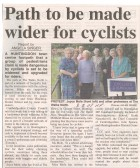 Footpath abuse by cyclists - The Walks North. ( source - Hunts Post.)