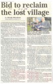 Bid  to reclaim lost village of Hartford.  (source Town Crier.)
