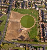 The sports area and hard areas have been established and ground is ready for the  cultivation of trees and shrubs. Oxmoor, Huntingdon