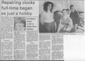 Bert Cassey,  clock repairer.