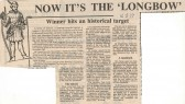Renaming of the Platelayers' Arms, Sapley, to The Longbow - 1979. ( source-The Hunts Post.)
