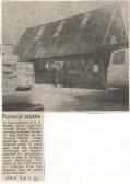 Notley Funeral stable, Huntingdon. 1985. ( source - Huntingdon Weekly News.)