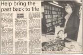 Paula Roulinson - Huntingdon Librarian. ( source - Huntingdon Weekly News.)