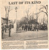 Remembrance day service at Godmanchester. 1980. ( source - Hunts Post.)
