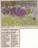 Beating of the Bounds on Spring Common, Huntingdon. ( source - The Weekly News.)