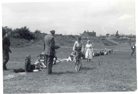Hartford School's Bicycle race in 'The Pits', Sapley Road, Hartford.