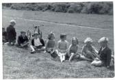 Children at Hartford School sports' day. 'The Pits', Sapley Road, Hartford.
