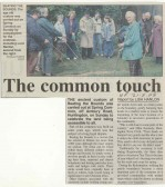 Beating the bounds on Spring Common, 2003, L -R Brian Smith, June Cruse, Chris Doyle, Freda Hughes, Lord Renton, source - Hunts Post.