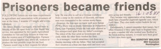 Local prisoners of war working on the land.  Source Hunts Post