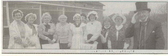 Victorian festival day held at the old Hunters Down in 1987, source Huntingdon Weekly News.