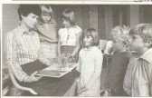 Library assistant, Pat Covington at children's activity week 1981. Source Weekly News - 14th Sept 2006.