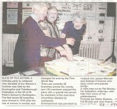 9 decades of the Women's Institute celebrated by Hdon & Peterboro Federation of the W I. L/R Aileen Dickens, Pat Brooks & Joan Keane.   Hunts Post