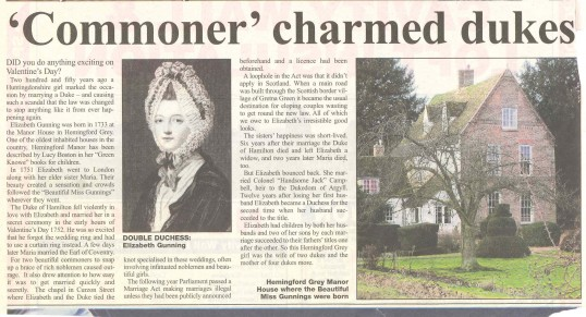The Gunning sisters of Hemingford Grey by Bob Burn-Murdoch.Source Hunts Post.