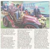 Abels and the London to Brighton  veteran car run.Source Hunts Post