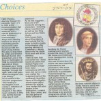 Journey through the centuries to celebrate 800 years'  old charter.Source Hunts Post.