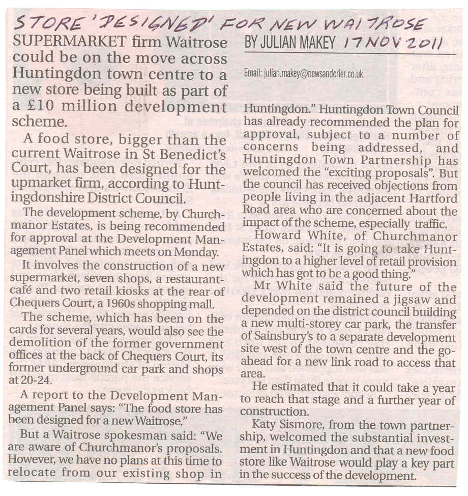 Plans for waitrose new storeurce news and crier newsworthy plans for waitrose new storeurce news and crier izmirmasajfo