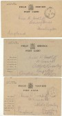 Postcards from the Army post office.Source Goodliff Archive.