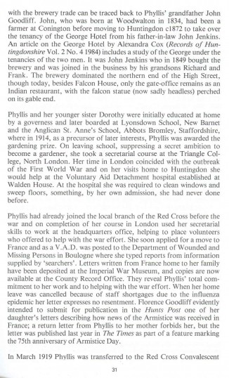 Phyllis Goodliff Obituary.Goodliff Archive.