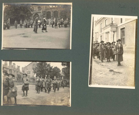 Guide Parade in the market Square, Huntingdon 1924.Goodliff Archive.